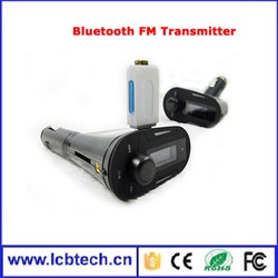 Promotion Bluetooth Handsfree car kit FM transmitter for car with Low price