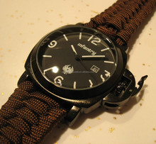 HOT SALING Paracord Survival Watch Dive Style Date