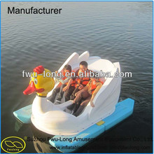 Cheap small fiberglass swan pedal boat,water bike pedal boats for sale, foot paddle boat