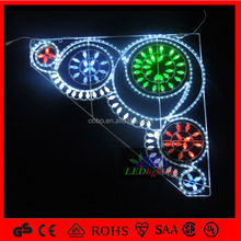 Outdoor Led lighted up C7 sting lights and led rope light mtoifs