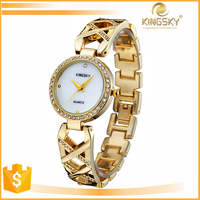 kingsky 3810# japan movt quartz watch stainless steel back,fashion lady watch,hot new watch for 2015