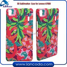 Newest Indian 3D sublimation mobile case cover for Lenovo A7000 sublimation phone case