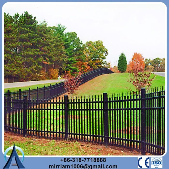 Rail 40 * 40 mm quadrado * 1.6 mm de espessura de parede modelos de portões e cerca de ferro
