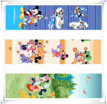 Wholesale polyester brushed fabric wtih mickey mouse for set comforter