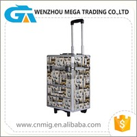 Trolley Aluminum Cosmetic Case for Makeup with Wheels and Handle