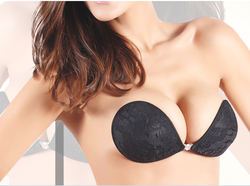 HOT one piece silicone breast forms vogue sexy bra silicone