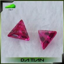 High Quality Polished Triangle Sharp Corner 5# Red Ruby loose Gemstone