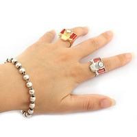 2014 Hot Sale Alloy Silver Ring Men's Gemstone Rings SP-JZ-65477 Camera Ring