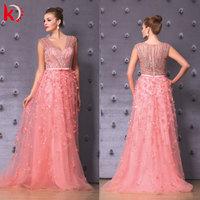 Gorgeous Handmade Beading 2015 Evening Gown Plus Size Evening Dress Online Shopping