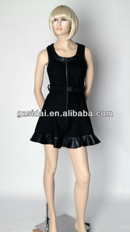 2013 fashion christmas party dresses for pu with worsted