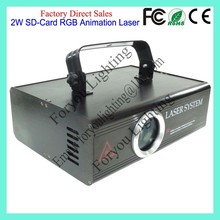Stage Lighting Digital Display 2W RGB SD-Card Animation Laser Light