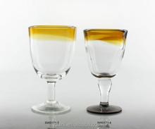 Colored wine drinking glass, hot sale goblet glassware,restaurant hotel bar home usage