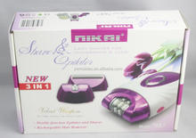 NEW 2014 Hot Sale electric hair remover for women 3 in 1 set