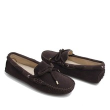 wholesale 2015 fashion moccasin lady shoes chocolate