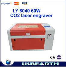 Factory supply LY 6040 60w co2 laser engraving and cutting machine with all functions