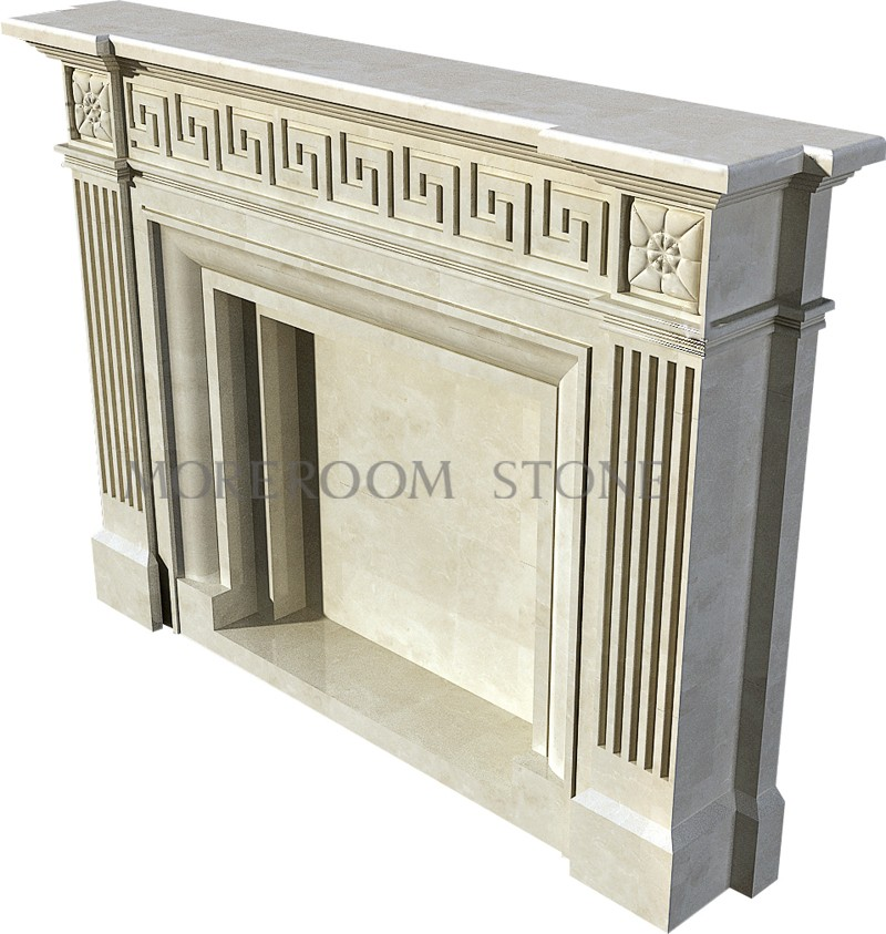 WL-BL002 Moreroom Stone Natural Marble Finished Marble Product Natural Stone Marble Fireplace.jpg