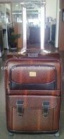 snake PU leather good quality inside trolley travel eminent wenzhou luggage