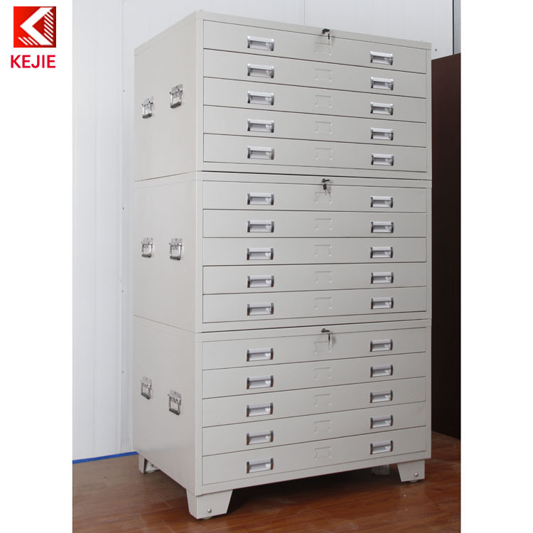 Wholesale Construction Used 5 Drawer Map Flat Chest