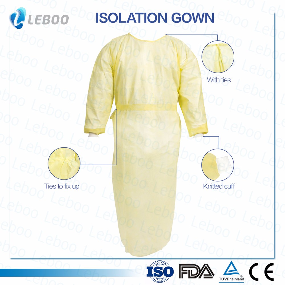 Yellow Disposable Isolation Gown - Buy Isolation Gown,Disposable ...