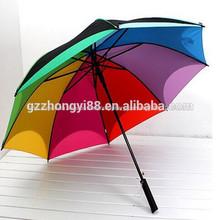 baratos al por mayor de moda colorida divertida de golf paraguas paraguas de deportes
