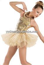 nueva moda de champán cisne profesional tutú de ballet