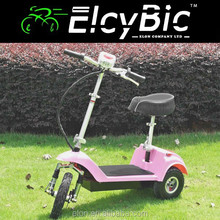 350w three wheel folding moped scooter (E-SK03C pink)