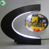 Two sides C shaped magnetic levitation photo frame with LED lights cute precious send gifts to india