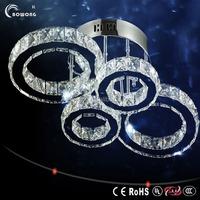 bright flush rings ceiling led light,elegant durable led crystal lamp,fast sell home led crystal lamp
