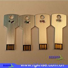 new Wholesale Waterproof Metal Key USB Memory Stick Flash Pen Drive bulk cheap 8gb 16gb 32gb 64gb 128gb
