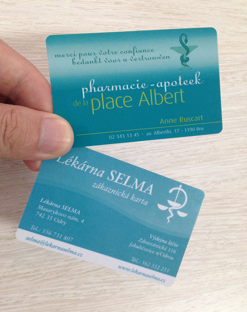 Printed Plastic Cheap Business Card For Place Albert