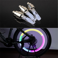 1pcs Bike Lights MTB Mountain Road Bike Bicycle Lights LEDS Tyre Tire Valve Caps Wheel Spokes LED Light Auto Lamp