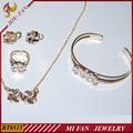 18k jóias folheadas de ouro definido para baby girl jóia agradável
