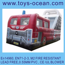 inflatable fire truck slide inflatable jumping slide air bouncer slide fire truck