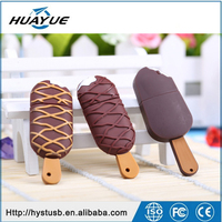 Hot sale And OEM Price 1gb 4gb 8gb Bulk Cheap Ice-cream shaped Silicone USB Flash Drives
