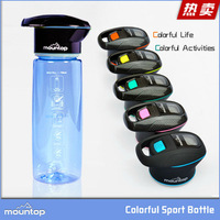 Hot items 2016 bpa free outdoor sport plastic water bottle 253.7nm UVC mineral purifier water bottle for camping