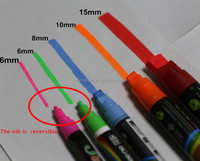 8 Colors Unique Reversible Tip Fluorescent magic marker pens