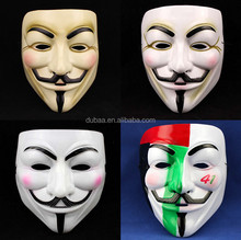 New V for Vendetta Mask Guy Fawkes Halloween Masquerade Party Face March Protest