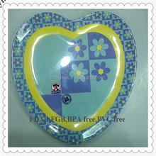 hylink melamine heart shaped plates