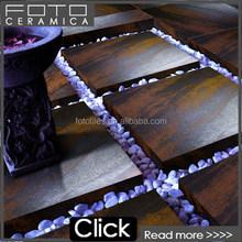 Decorative metal sheet roof tiles