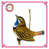hot-selling carved wooden birds model home-made wood birds for home decor
