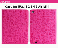 Kids 7 Inch Lovely cartoon leather Tablet Case For Ipad Mini/2/3/4/air/air 2 with stand