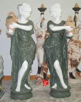 Indoor nude woman statue