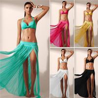 HFR-AN243 2015 Europe women sexy transparent beach long skirt