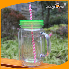Plastic Ball 750ml Mason Jar with Handles