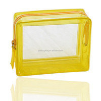 Eco-friendly zipper top clear plastic PVC cosmetic case