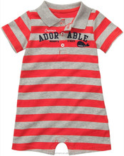Baby clothing cotton baby romper color striped new born baby romper