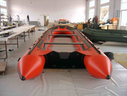 New products 8m Super Big Sport Hand Custom-built Inflatable Boat with Aluminum Alloy Floor