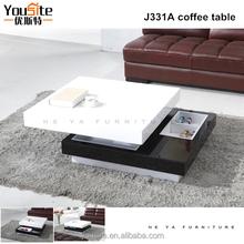 3 Layers Modern High Gloss MDF Coffee Table