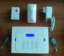 Touch keypad LCD display wireless home burglar security mobile call gsm alarm system manual