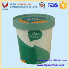 Double side PE coated ice cream tubs with normal size 12/16/32oz